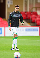 Lincoln City's Max Melbourne during the pre-match warm-up<br /> <br /> Photographer Andrew Vaughan/CameraSport<br /> <br /> The EFL Sky Bet League One - Accrington Stanley v Lincoln City - Saturday 21st November 2020 - Crown Ground - Accrington<br /> <br /> World Copyright © 2020 CameraSport. All rights reserved. 43 Linden Ave. Countesthorpe. Leicester. England. LE8 5PG - Tel: +44 (0) 116 277 4147 - admin@camerasport.com - www.camerasport.com