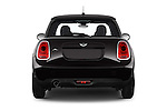 Straight rear view of a 2015 MINI MINI Cooper 3 Door Hatchback Rear View  stock images