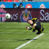 31 March 2011: Columbus Crew goalkeeper Andy Gruenebaum #30 in action during the warm-up in a game between the Columbus Crew and the Toronto FC at BMO Field in Toronto, Ontario Canada..The Columbus Crew won 1-0.