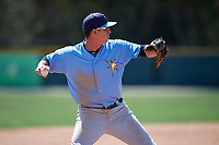 Tampa Bay Rays Matt Dacey (72) during a minor league Spring Training game against the Baltimore Orioles on March 29, 2017 at the Buck O'Neil Baseball Complex in Sarasota, Florida.  (Mike Janes/Four Seam Images)