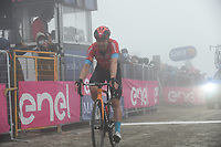 22th May 2021, Cittadella, Padua, Italy; Giro D Italia stage 14, Cittadella to Monte Zoncolan; Bahrain - Victorious Tratnik, Jan at the finish line in Monte Zoncolan