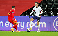 SWANSEA, WALES - NOVEMBER 12: Giovanni Reyna #7 of the United States looking for an open man during a game between Wales and USMNT at Liberty Stadium on November 12, 2020 in Swansea, Wales.
