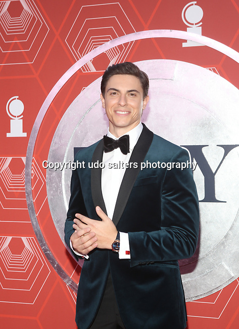 Derek Klena attends the 74th Tony Awards-Broadway's Back! arrivals at the Winter Garden Theatre in New York, NY, on September 26, 2021. (Photo by Udo Salters/Sipa USA)