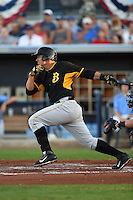 Bradenton Marauders first baseman Jose Osuna (28) during a game against the Charlotte Stone Crabs on April 4, 2014 at Charlotte Sports Park in Port Charlotte, Florida.  Bradenton defeated Charlotte 9-1.  (Mike Janes/Four Seam Images)