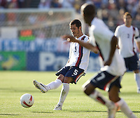 Benny Feilhaber sends a ball into the box. The USA defeated China, 4-1, in an international friendly at Spartan Stadium, San Jose, CA on June 2, 2007.