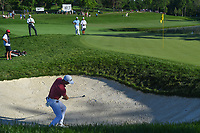 4th June 2021; Dublin, Ohio, USA; Justin Thomas (USA) hits from the trap on 5 during the Memorial Tournament Rd2 at Muirfield Village Golf Club on June 4, 2021 in Dublin, Ohio.