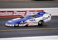 Feb. 15, 1998; Pomona, CA, USA; NHRA funny car driver Gary Densham during the Winternationals at the Pomona Fairplex. Mandatory Credit: Mark J. Rebilas-