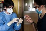 Emergenza Coronavirus Ospedale Maggiore di Cremona preparazione vaccino contro il Covid-19 cronaca Cremona 25/01/2021 Coronavirus emergency Ospedale Maggiore di Cremona preparation vaccine against Covid-19 chronicle Cremona 25/01/2021