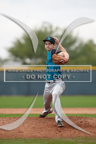 Andrew Atherton (4) of Crescenta Valley High School in La Crescenta, California during the Under Armour All-American Pre-Season Tournament presented by Baseball Factory on January 15, 2017 at Sloan Park in Mesa, Arizona.  (Kevin C. Cox/Mike Janes Photography)