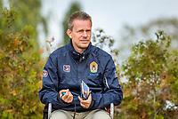 Netherlands, September 27,  2020, Beneden-Leeuwen, TV Lewabo, Competition, Men's premier league, TV Lewabo vs TV Suthwalda, Umpire<br /> Photo: Henk Koster/tennisimages.com