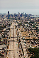 aerial photograph I-94, Chicago, Illinois