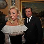 CARLO DI BORBONE CON LA MOGLIE CAMILLA CROCIANI<br /> FESTA DEGLI 80 ANNI DI MARTA MARZOTTO<br /> CASA CARRARO ROMA 2011