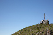 Franconia Notch State Park - The summit of Cannon Mountain from Rim Trail in the White Mountains, New Hampshire USA