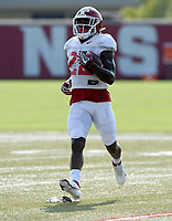 Arkansas running back Trelon Smith carries the ball Tuesday, Sept. 8, 2020, during practice at the university football practice fields in Fayetteville. Visit nwaonline.com/200909Daily/ for today's photo gallery.<br /> (NWA Democrat-Gazette/Andy Shupe)