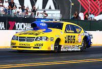 Jul. 26, 2013; Sonoma, CA, USA: NHRA pro stock driver Jeg Coughlin during qualifying for the Sonoma Nationals at Sonoma Raceway. Mandatory Credit: Mark J. Rebilas-