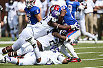 Southern Methodist Mustangs running back K.C. Nlemchi (25) in action during the game between the TCU Horned Frogs and the SMU Mustangs at the Gerald J. Ford Stadium in Fort Worth, Texas. TCU defeats SMU 56 to 0.