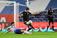 22nd April 2021; Dragao Stadium, Porto, Portugal; Portuguese Championship 2020/2021, FC Porto versus Vitoria de Guimaraes; Mateus Uribe of FC Porto slides in to tackle Rochinha of Vitoria de Guimaraes