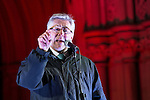 """© Joel Goodman - 07973 332324 .  03/02/2015 . Manchester , UK . Greater Manchester Police and Crime Commissioner , TONY LLOYD , speaks at the demonstration . Demonstration organised by the Labour Party on the steps of Manchester City Council in Albert Sqaure , Manchester , under the banner """"manVcam"""" ( Manchester vs Cameron ) . Organisers say Manchester - along with Liverpool and Birmingham - have suffered larger cuts than other regional authorities , whilst southern regions such as Surrey , Hampshire and West Sussex have all seen increases in government funding . Photo credit : Joel Goodman"""