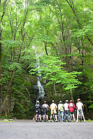 Bicyclists, Buttermilk Falls, Delaware Water Gap, New Jersey