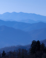 A classic view of the Smoky Mountains from high in the Appalachian range.