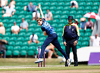 James Logan bowls for Kent during Kent Spitfires vs Durham, Royal London One-Day Cup Cricket at The Spitfire Ground on 22nd July 2021