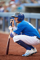 Tulsa Drillers shortstop Tim Locastro (15) on deck during a game against the Corpus Christi Hooks on June 3, 2017 at ONEOK Field in Tulsa, Oklahoma.  Corpus Christi defeated Tulsa 5-3.  (Mike Janes/Four Seam Images)