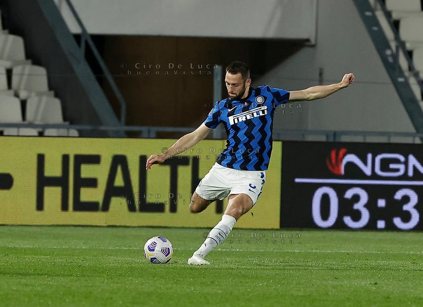 Matias Vecino of Inter  during the  italian serie a soccer match,Spezia Inter Milan at  the STadio Picco in La Spezia Italy ,