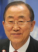 NEW YORK, NY - DECEMBER 17: United Nations Secretary-General Ban Ki-moon addresses the media at an end-of-year press conference on December 17, 2014 at UN headquarters in New York City.<br /> <br /> People:  Ban Ki-moon<br /> <br /> Transmission Ref:  MNC1<br /> <br /> Must call if interested<br /> Michael Storms<br /> Storms Media Group Inc.<br /> 305-632-3400 - Cell<br /> 305-513-5783 - Fax<br /> MikeStorm@aol.com<br /> www.StormsMediaGroup.com