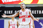 Brim Marlowe Antwaun #25 of Nam Ching Basketball Team gestures during the Hong Kong Basketball League game between Nam Ching and  HKPA at Southorn Stadium on June 12, 2018 in Hong Kong. Photo by Yu Chun Christopher Wong / Power Sport Images