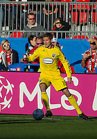 October 16 2010 Columbus Crew midfielder Robbie Rogers #18 in action during a game between the Columbus Crew and Toronto FC at BMO Field in Toronto..The final score was a 2-2 draw.