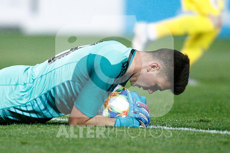 Spain's Unai Simon  during the International Friendly match on 21th March, 2019 in Granada, Spain. (ALTERPHOTOS/Alconada)
