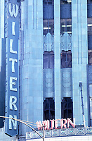 Los Angeles: Wiltern Theater, 1930-31. Morgan, Walls & Clements.Art Deco detail. Photo Dec. 1987.