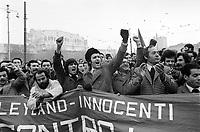 - Milano, gennaio 1976, manifestazione e sciopero degli operai della fabbrica Innocenti<br /> <br /> - Milan, January 1976, demonstration and strike of Innocenti factory workers.