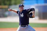 New York Yankees pitcher Brian Trieglaff (51) delivers a pitch during a minor league Spring Training game against the Toronto Blue Jays on March 30, 2017 at the Englebert Complex in Dunedin, Florida.  (Mike Janes/Four Seam Images)