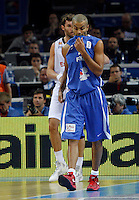 French national basketball team player Tony Parker gestures during final Eurobasket 2011 game between Spain and France in Kaunas, Lithuania, Sunday, September 18, 2011. (photo: Pedja Milosavljevic)