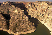 Bighorn River, Devil Canyon, Bighorn Canyon National Recreation Area, MT, WY, Montana, Wyoming, Scenic view of the Bighorn River from Devil Canyon Overlook in Bighorn Canyon Nat'l Recreation Area in Montana.