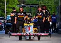 May 4, 2018; Commerce, GA, USA; Crew members for NHRA top fuel driver Richie Crampton during qualifying for the Southern Nationals at Atlanta Dragway. Mandatory Credit: Mark J. Rebilas-USA TODAY Sports