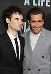 """Tom Sturridge and Jake Gyllenhaal attends the Broadway Opening Night performance of """"Sea Wall / A Life"""" at the Hudson Theatre on August 08, 2019 in New York City."""
