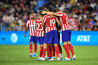 Orlando, FL - Wednesday July 31, 2019:  Atletico Madrid, Goal Celebration during an Major League Soccer (MLS) All-Star match between the MLS All-Stars and Atletico Madrid at Exploria Stadium.