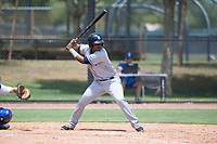 AZL Padres 2 pinch hitter Elvis Sabala (13) at bat during an Arizona League game against the AZL Dodgers at Camelback Ranch on July 4, 2018 in Glendale, Arizona. The AZL Dodgers defeated the AZL Padres 2 9-8. (Zachary Lucy/Four Seam Images)