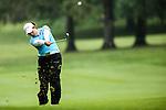 Thai's Moriya Jutanugarn uses an iron on the seventh fairway at the LPGA Championship at Locust Hill Country Club in Pittsford, NY on June 7, 2013