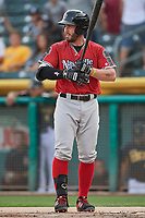 Beau Taylor (6) of the Nashville Sounds bats against the Salt Lake Bees at Smith's Ballpark on July 27, 2018 in Salt Lake City, Utah. The Bees defeated the Sounds 8-6. (Stephen Smith/Four Seam Images)