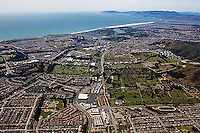 aerial photograph Colma, San Mateo county, California