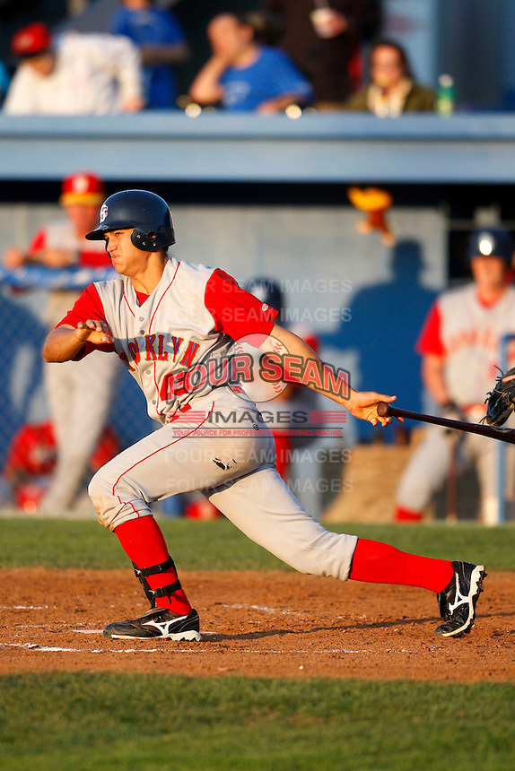 August 5, 2009:  Justin Garber of the Brooklyn Cyclones during a game at Dwyer Stadium in Batavia, NY.  The Cyclones are the Short-Season Class-A affiliate of the New York Mets.  Photo By Mike Janes/Four Seam Images
