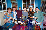 Rob O'Shea, Andrew O'Callaghan, Domnick Horgan, Harry O'Callaghan, Chelsea Quirke and Brian McLoughlan enjoying Molly Js in Benners Hotel on Thursday.