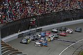 NASCAR Camping World Truck Series<br /> LTI Printing 200<br /> Michigan International Speedway, Brooklyn, MI USA<br /> Saturday 12 August 2017<br /> Kyle Busch, Textron Off Road Toyota Tundra, Ryan Truex, Hino Toyota Tundra, restart<br /> World Copyright: Michael L. Levitt<br /> LAT Images