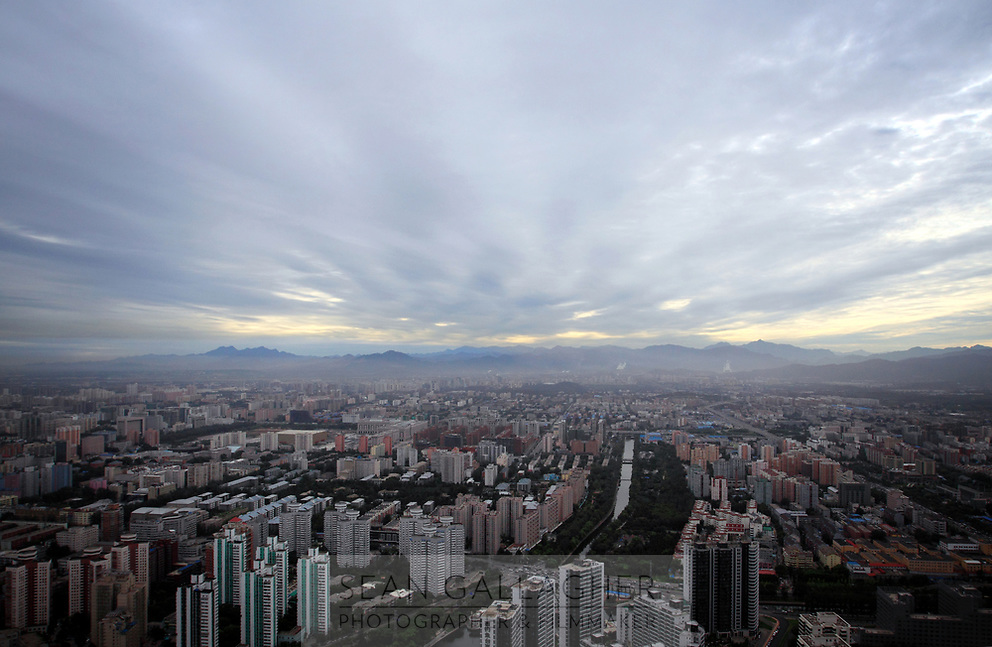 CHINA. Beijing. A view os west Beijing from the CCTV communications tower. 2009
