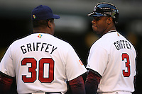 Ken Griffey Jr. and Ken Griffey Sr. Baseball: World Baseball Classic game between Canada and USA at Chase Field in Phoenix, AZ on March 8, 2006. Photo by Brad Mangin