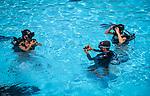 Dominikanische Republik, Bavaro Beach Garden, Pool: Schnupperkurs, Tauchunterricht | Dominican Republic, Bavaro Beach Garden, pool: scuba diving, trial lesson