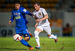 (R) Pablo Piatti of Valencia CF competes for the ball with (L) Ming Kong Chan of BC Rangers Fc  during LFP World Challenge 2014 between Valencia CF vs BC Rangers FC on May 28, 2014 at the Mongkok Stadium in Hong Kong, China. Photo by Victor Fraile / Power Sport Images